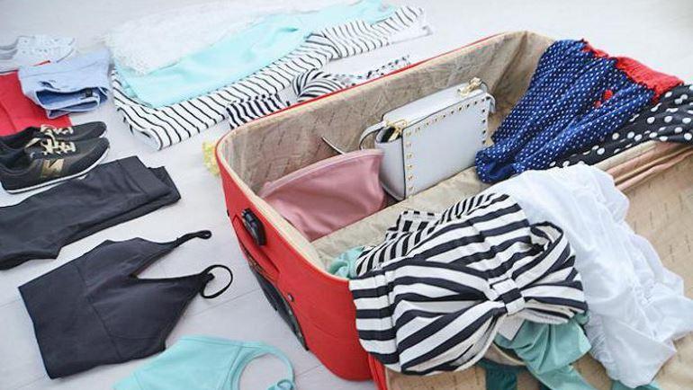Укладываем одежду в чемодан