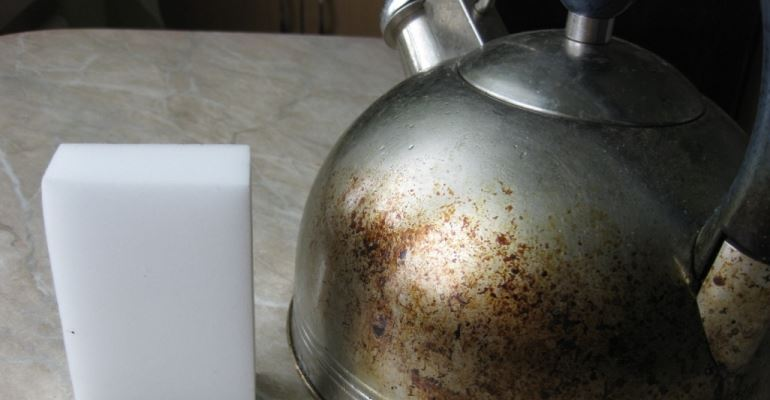 Чистка чайника из нержавеющей стали