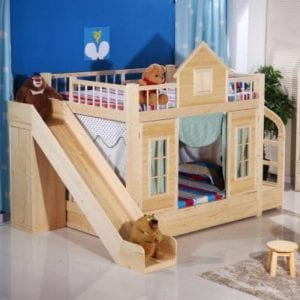Wooden house in the apartment