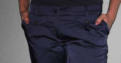 Как убрать блеск с брюк