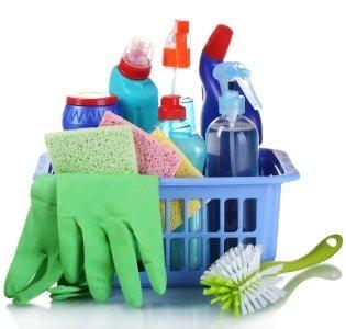 Очистка с помощью средств бытовой химии