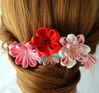 Канзаши для волос по времени года