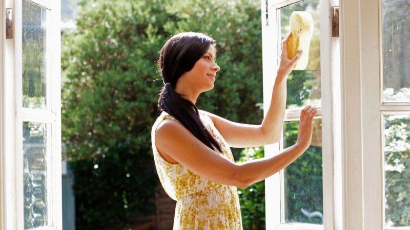 Мытьё пластиковых окон