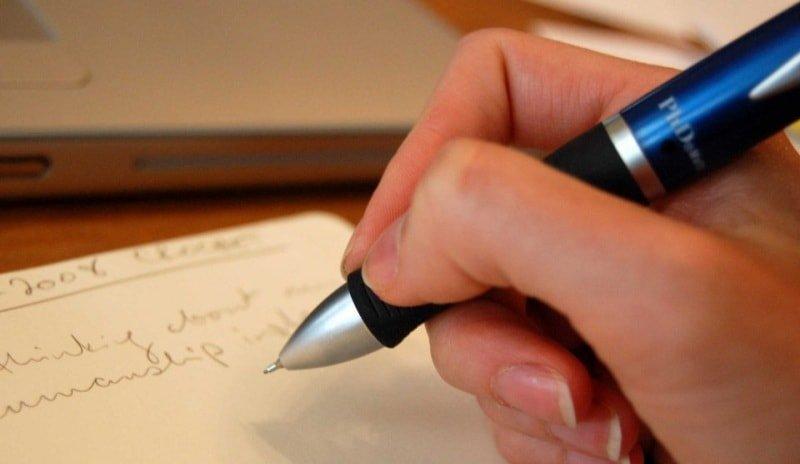 Как убрать след ручки
