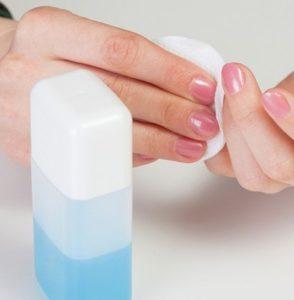Acetone or nail polish remover