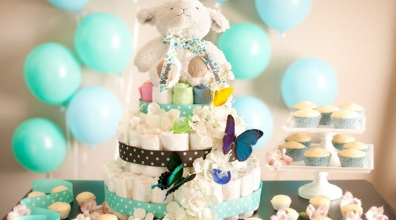 Торт из памперсов для детей