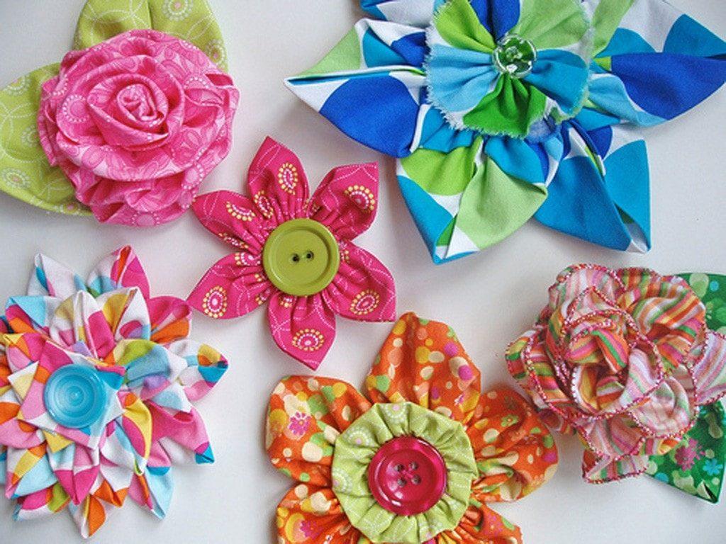 Мастер-класс по изготовлению цветов из ткани