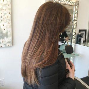 Лесенка учитывая ваш тип волос