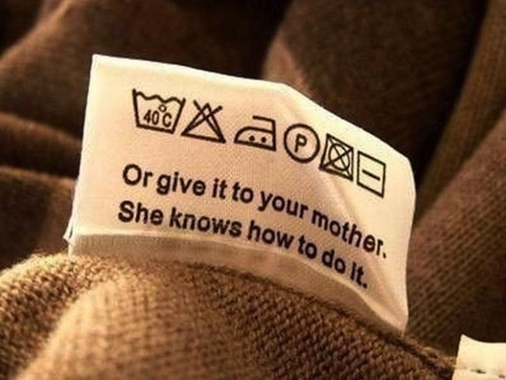 Знаки для стирки на одежде