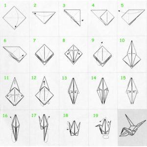 Как сделать из бумаги журавля