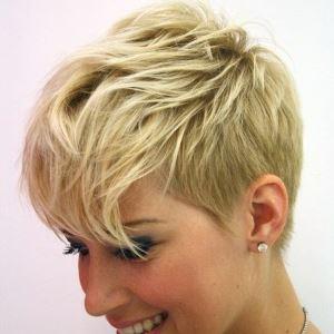 Pixie haircut for short hair