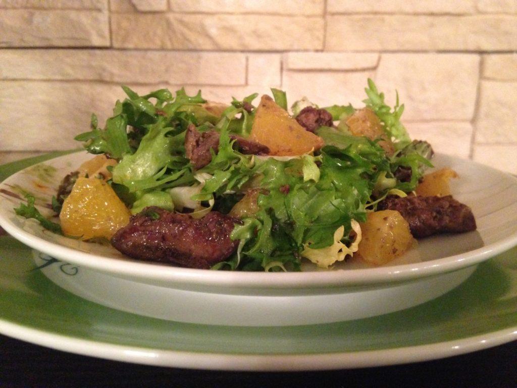 Рецепты салата с куриной печенью
