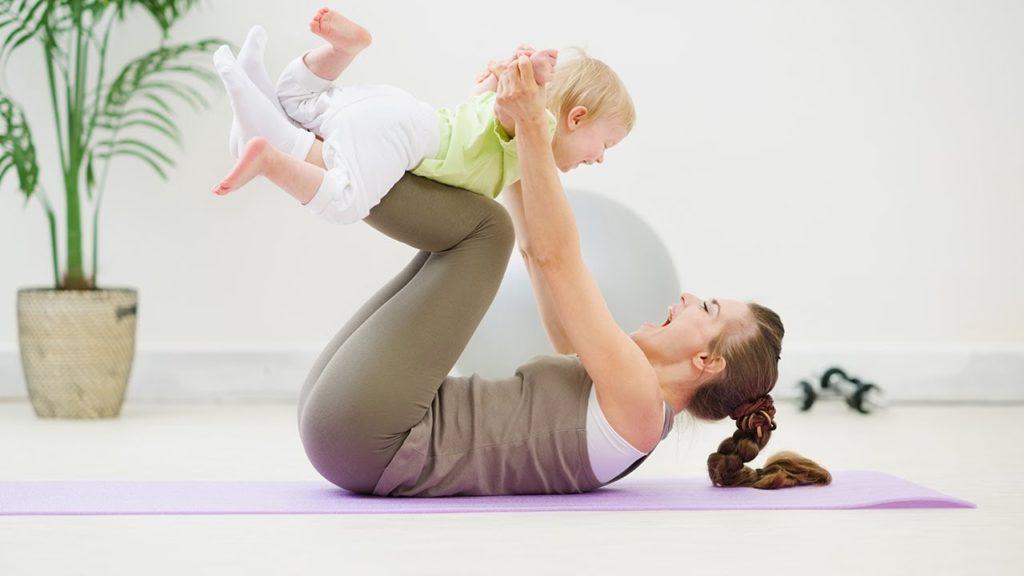 Спорт с младенцем
