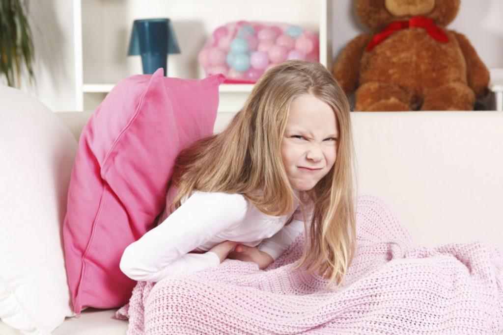 Rumbling in the abdomen in children