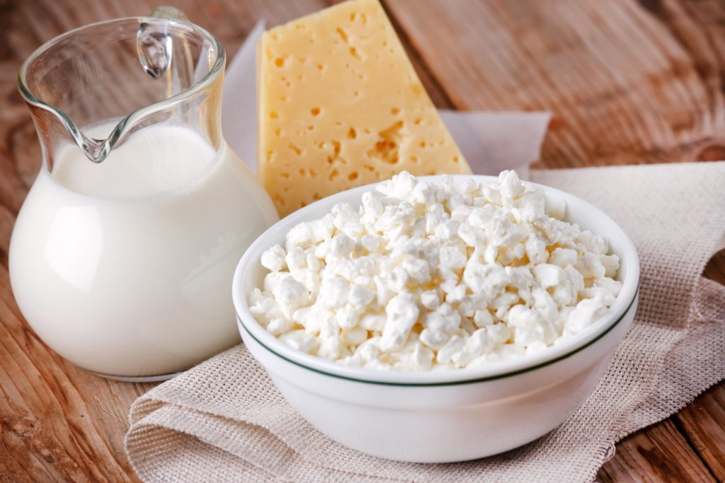 Zinc in dairy products and eggs