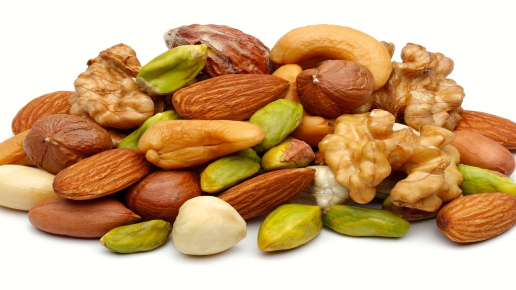 Zinc in nuts and seeds