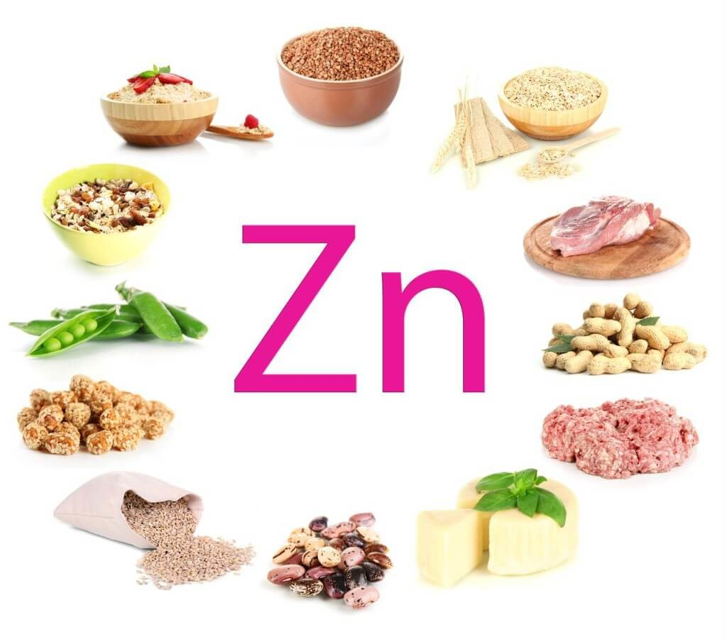 What foods contain zinc?