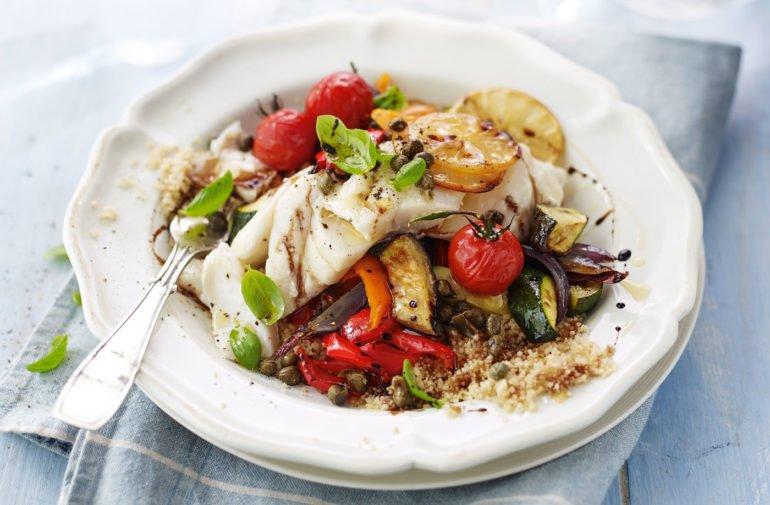 Гарнир для рыбы из картофеля и грибов