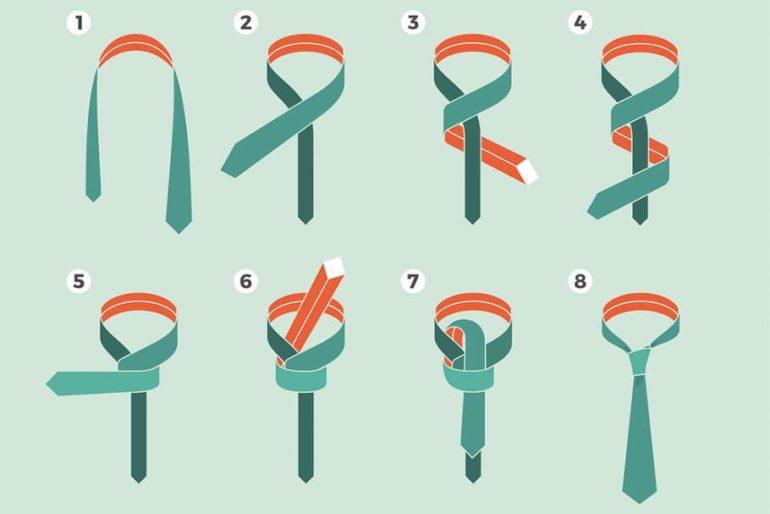 Способы завязывания, основные типы узлов