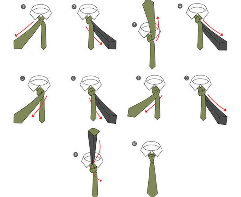 Виды узлов у галстука