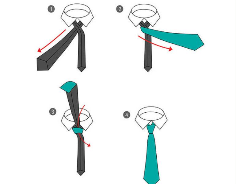 Способы завязать галстук
