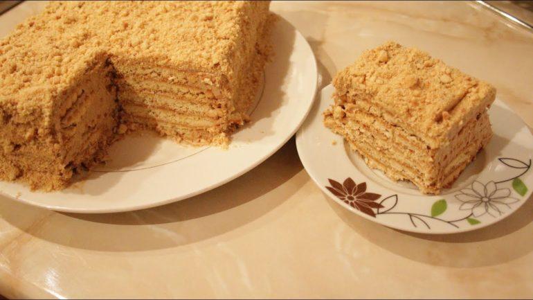 Торт из печенья – простой и быстрый вариант лакомства