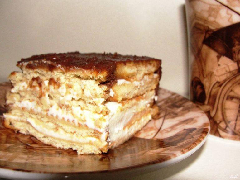 Самые вкусные рецепты торта из печенья