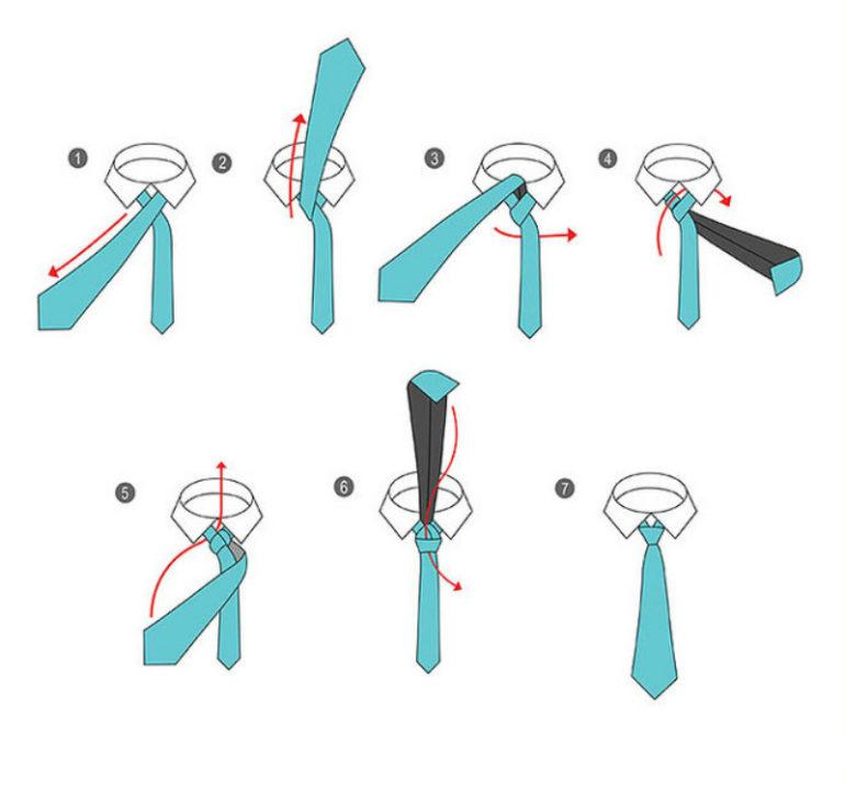 Разнообразные узлы у галстука