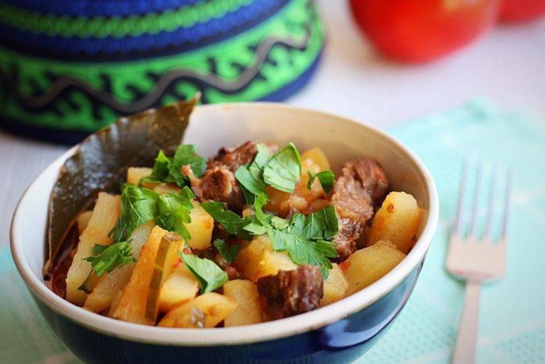 Приготовление азу по-татарски