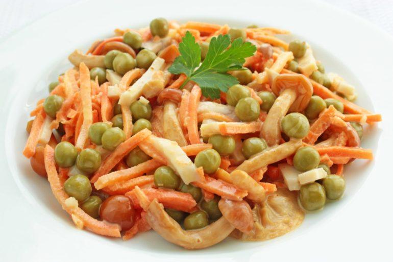 Приготовление вкусного салата