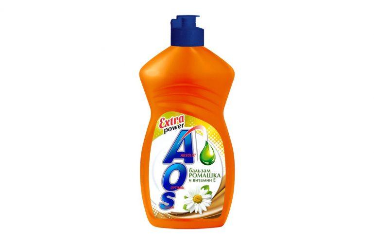 AOS Бальзам для мытья посуды Ромашка и витамин Е