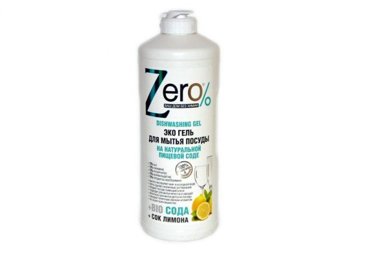 Zero% Гель для мытья посуды Сода и сок лимона