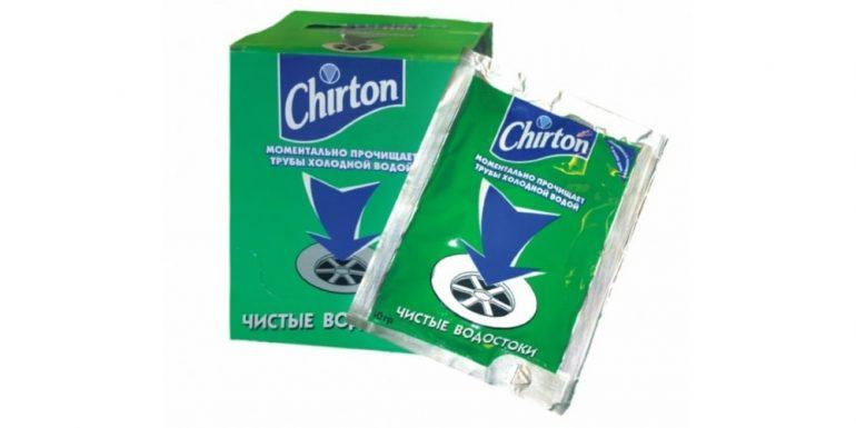 Chirton порошок для прочистки труб холодной водой
