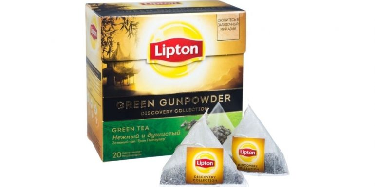 Lipton Green Gunpowder в пирамидках