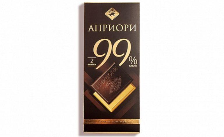 Верность качеству «Априори» горький 99% какао порционный