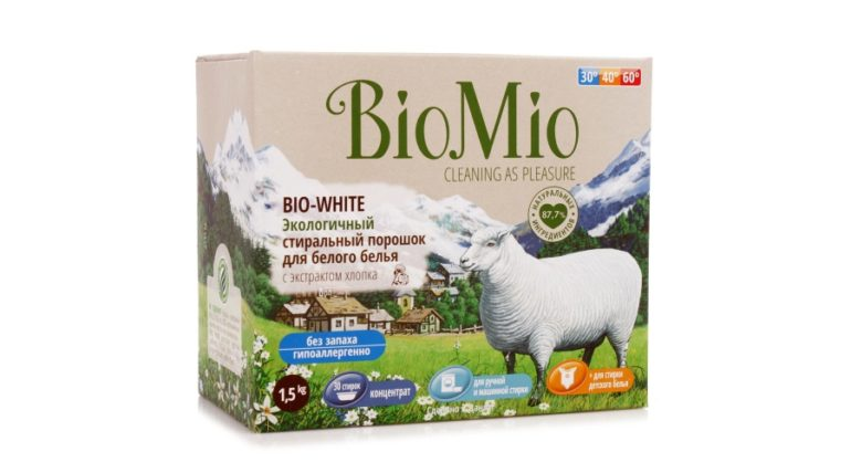 Порошок BioMio BIO-COLOR с экстрактом хлопка