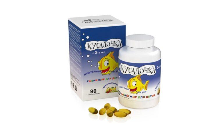 КУСАЛОЧКА рыбий жир для детей RealCaps