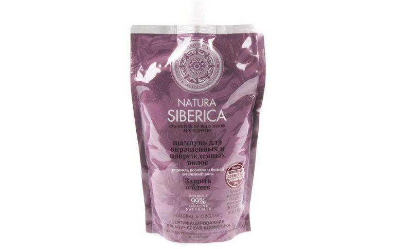Natura Siberica шампунь «Защита и Блеск» для окрашенных и повреждённых волос